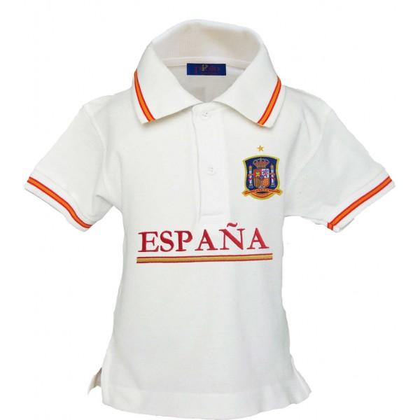 Polo Selección Española blanco niño