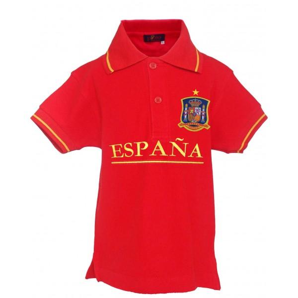Polo Selección Española rojo niño