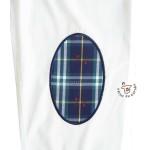 Camisa bandera España blanca con cuadro escocés