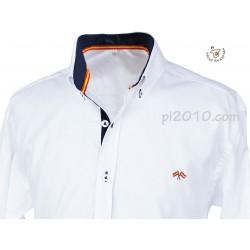 Camisa bandera España blanca con marino