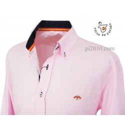 Camisa bandera España rosa con marino