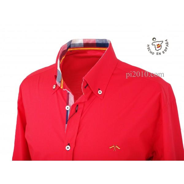 Camisa bandera España roja con cuadros