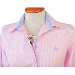 Camisa mujer cuadros rosas