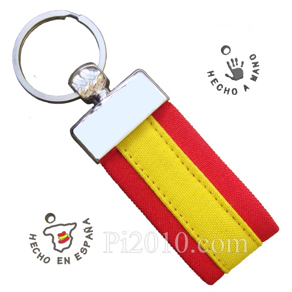 Llavero tela  bandera de España