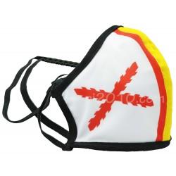 Mascarilla Cruz de Borgoña con bandera de España