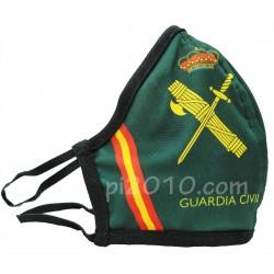 Mascarilla con el emblema de la Guardia Civil