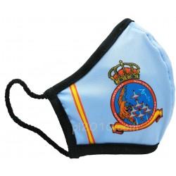 Mascarilla Patrulla Aguila celeste con bandera de España
