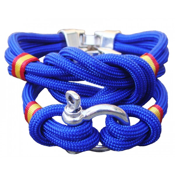 Pack pulsera nudo + pulsera grillete azulón