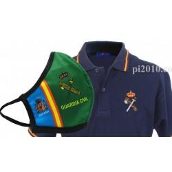 Pack polo y mascarilla Guardia Civil con bandera de España