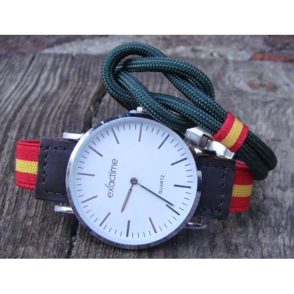 Pack pulsera nudo + reloj correa elástica