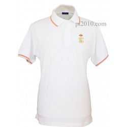 Polo Guardia Civil GC blanco hombre