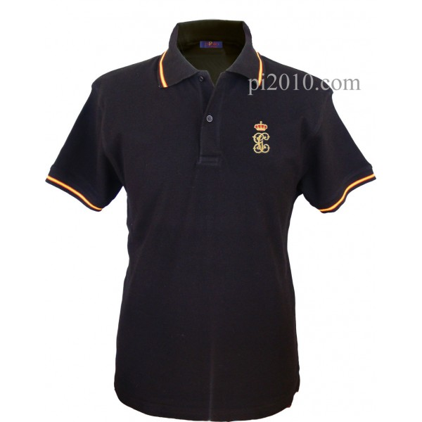 Polo Guardia Civil GC negro hombre