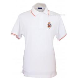 Polo Casa Real Felipe VI blanco hombre