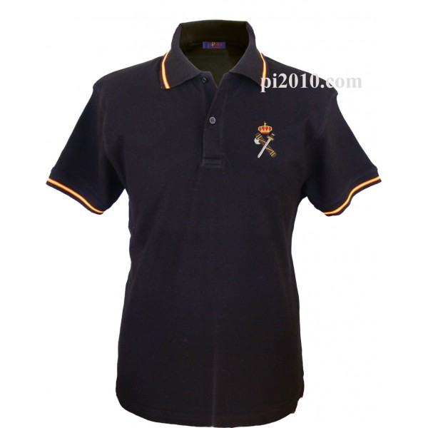 Polo Guardia Civil negro hombre