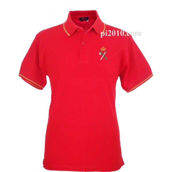 Polo Guardia Civil rojo hombre