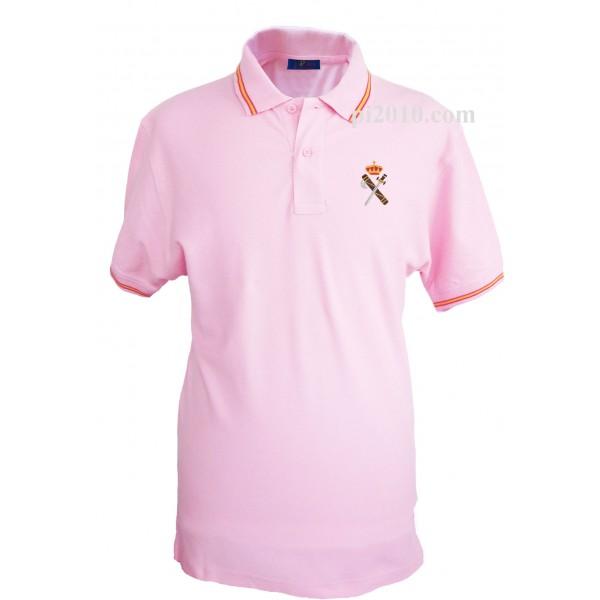 Polo Guardia Civil rosa hombre