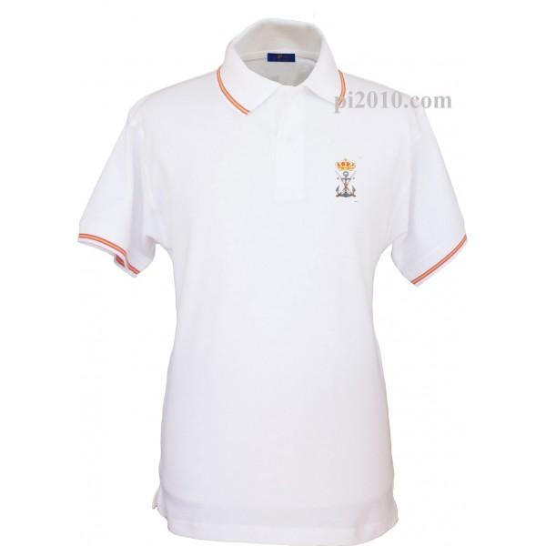 Polo Infanteria de Marina Armada Española blanco hombre