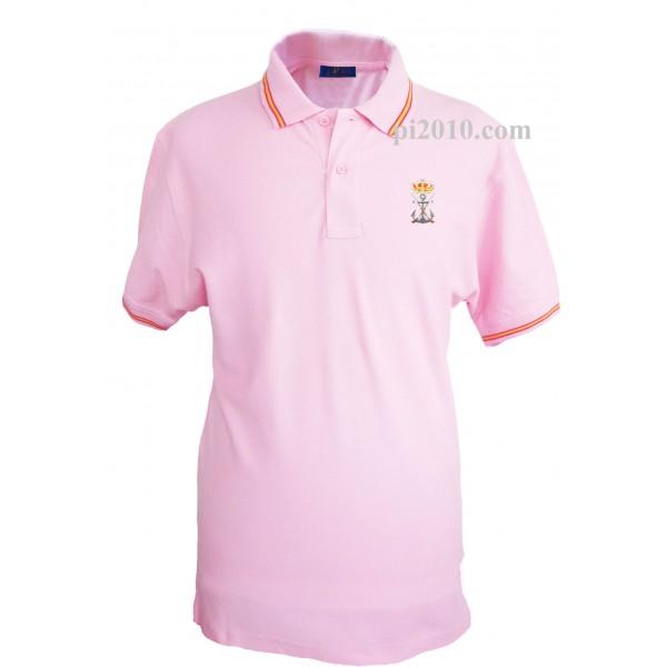 Polo Infanteria de Marina Armada Española rosa hombre