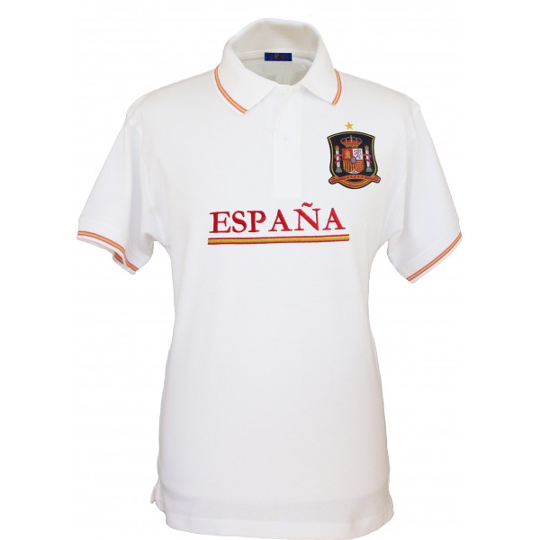 Polo Selección Española blanco hombre