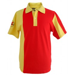 Polo rojo y amarillo modelo Finisterre
