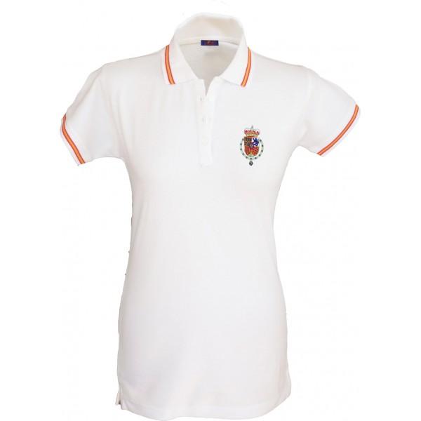 Polo Casa Real Felipe VI blanco mujer