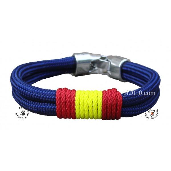 Pulsera cordón marino con bandera de España