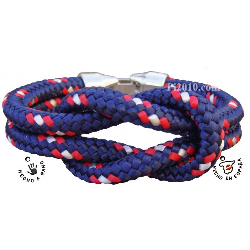 Pulsera nudo marinero gordo marino - Nudos marineros para pulseras ...