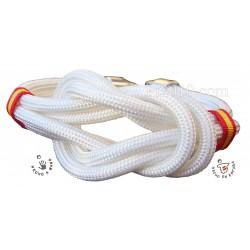 Pulsera bandera de España nudo doble color blanco
