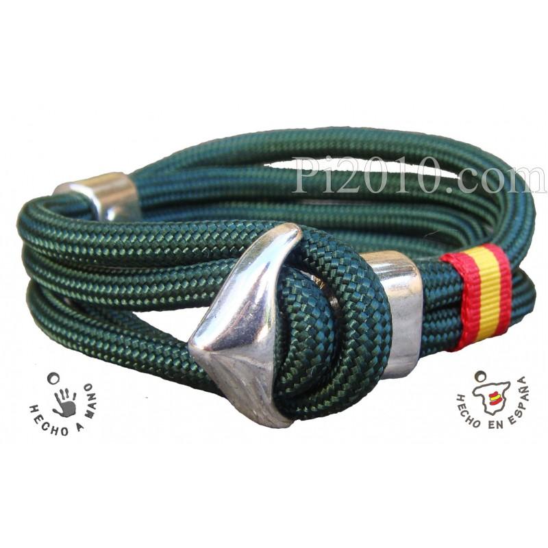 765e0a4d0d86 Pulsera ancla bandera de España color verde