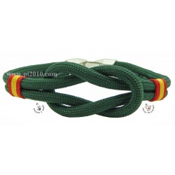 Pulsera bandera de España nudo simple color verde