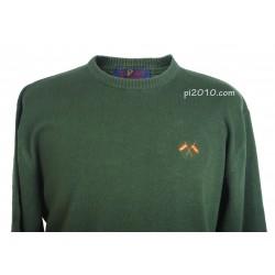 Jersey verde bandera con cuello de caja