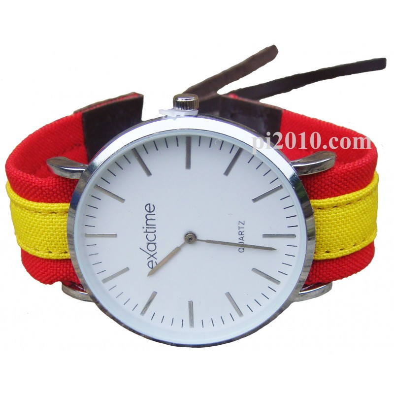 9dc365b28 Reloj con correa de tela bandera de España