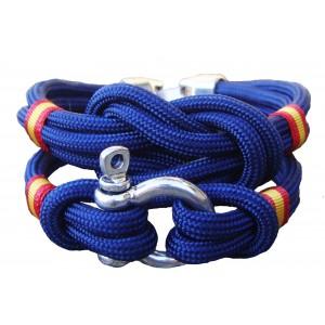 Pack pulsera nudo + pulsera grillete marino