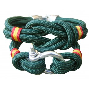 Pack pulsera nudo + pulsera grillete verde