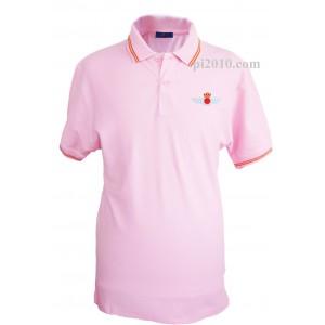 Polo Ejercito del Aire rosa hombre