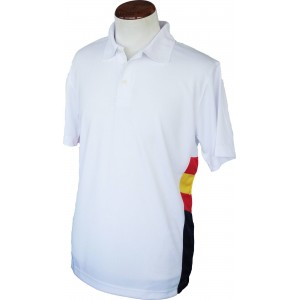 Polo técnico blanco con bandera de España