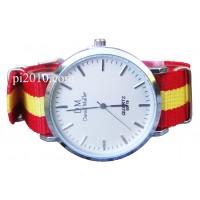 Reloj con correa de nylon bandera de España